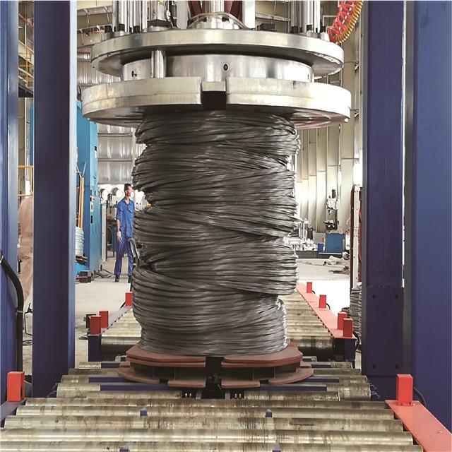 寬卷線材穿芯纏繞包裝機